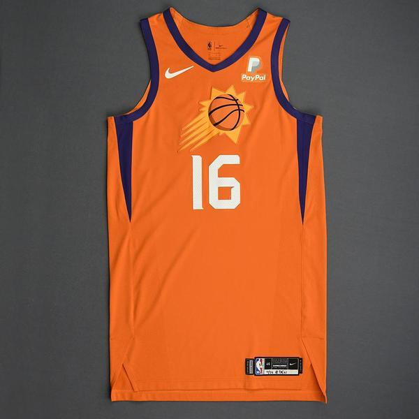Image of Tyler Johnson - Phoenix Suns - Game-Worn Statement Edition Jersey - 2019-20 Season