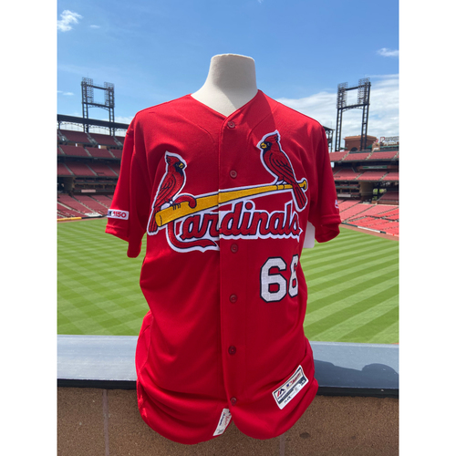 cardinals authentics team issued randy arozarena red bp jersey st louis cardinals auctions team issued randy arozarena red bp