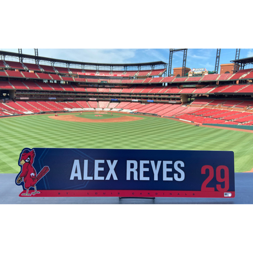 Photo of Cardinals Authentics: Team Issued Alex Reyes Nameplate