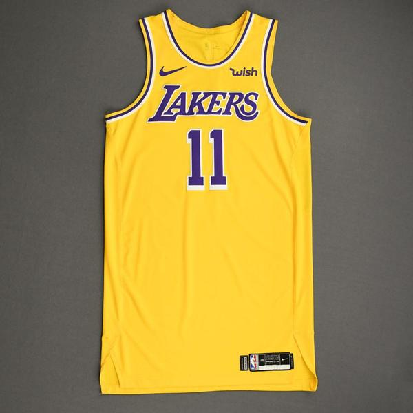 Image of Avery Bradley - Los Angeles Lakers - NBA China Games - Game-Worn Icon Edition Jersey - 2019-20 NBA Season
