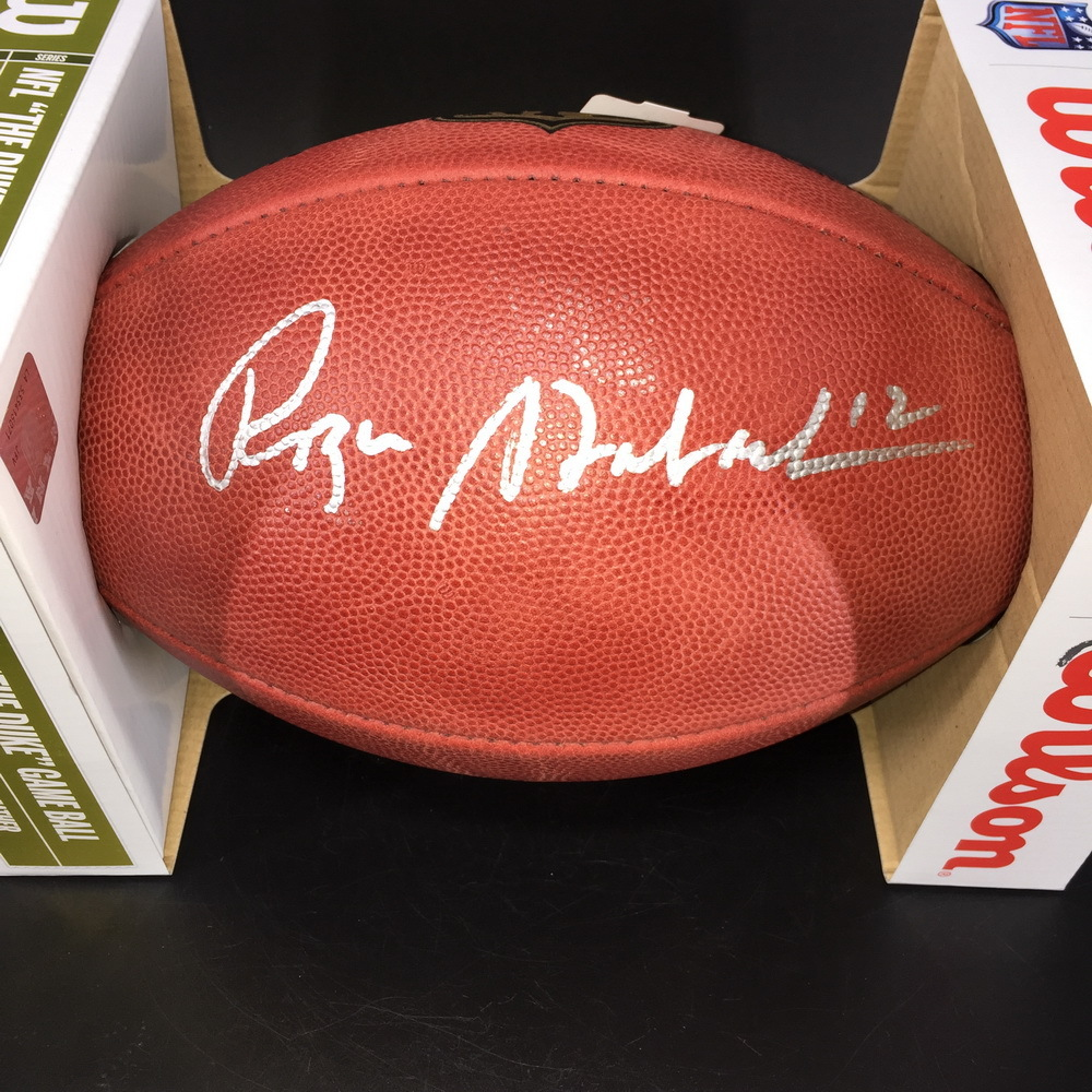 HOF - Cowboys Roger Staubach Signed Authentic Football