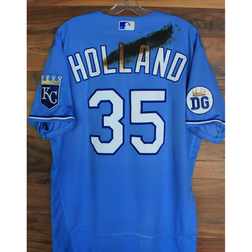 Photo of Alex's Lemonade Stand Foundation: Team-Issued Greg Holland Jersey (Size 46 - Authenticated as Team-Issued on 9/26/20 DET @ KC)