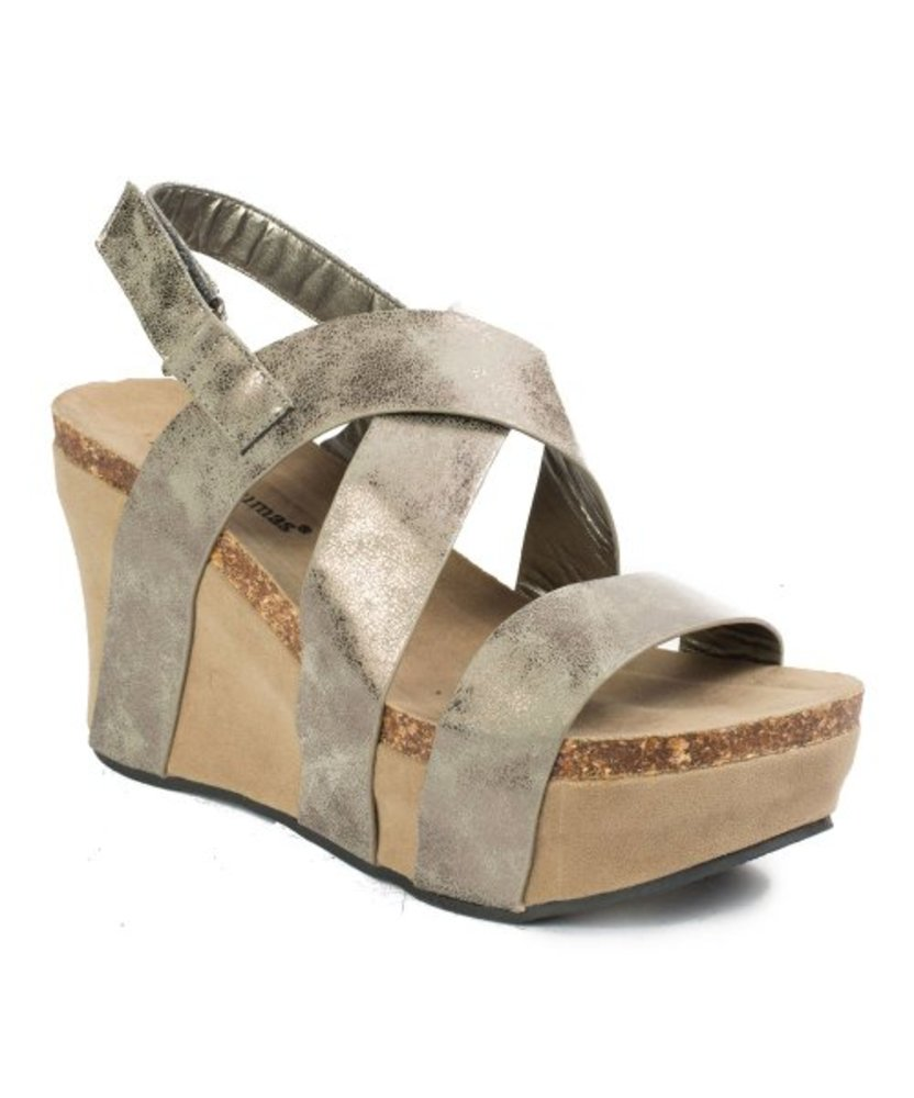 Photo of Pierre Dumas Distressed Hester Cross-Strap Sandal