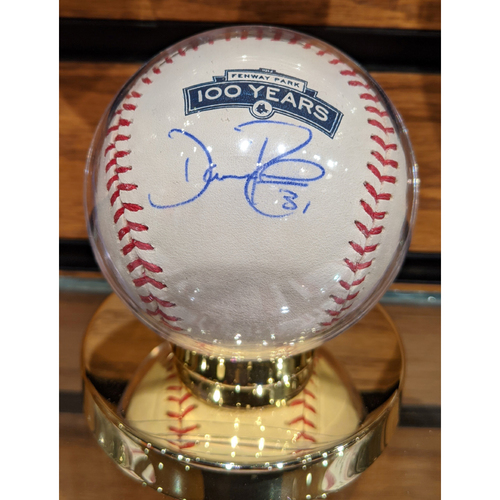 Photo of Dave Roberts #31 Autographed Fenway Park 100 Years Baseball