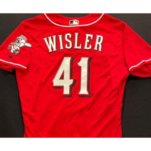 Photo of WISLER -- Authentic Reds Jersey -- $1 Jersey Auction -- $5 Shipping -- Size 46 (Not MLB Authenticated)