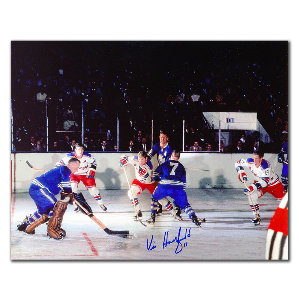 Vic Hadfield New York Rangers GAG LINE Autographed 8x10