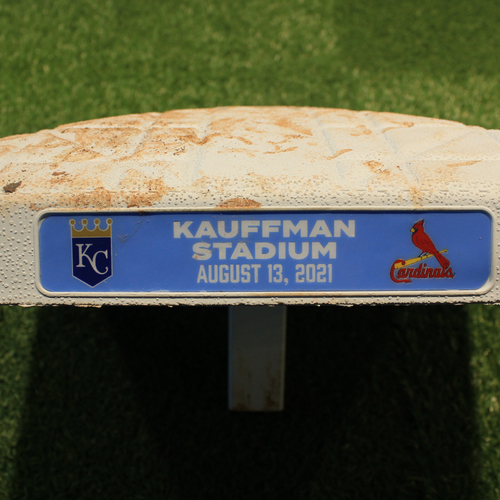 Photo of Game-Used 2nd Base: Innings 1-5 (STL@KC 8/13/21)