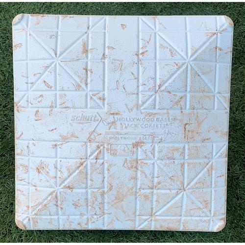 Photo of Game Used Base with 9/11 Remembrance Jewel - 2nd Base, Innings 1-3 - Javier Baez Home Run, Aaron Judge Home Run, Brett Gardner Home Run; McCann Triple; Pillar Double - Mets vs. Yankees - 9/11/21