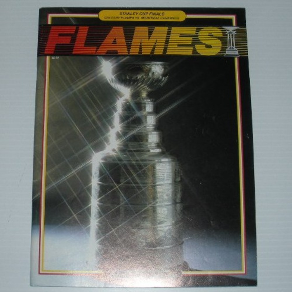 1989 Stanley Cup Finals Program - Montreal Canadiens vs. Calgary Flames at the Saddledome