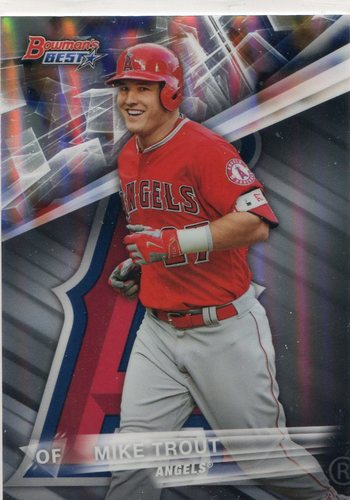 Photo of 2016 Bowman's Best Refractors #1 Mike Trout