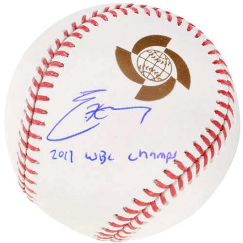 Photo of Eric Hosmer Team USA Autographed 2017 World Baseball Classic Logo Baseball with 2017 WBC Champs Inscription