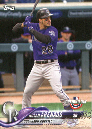 Photo of 2018 Topps Opening Day #41 Nolan Arenado