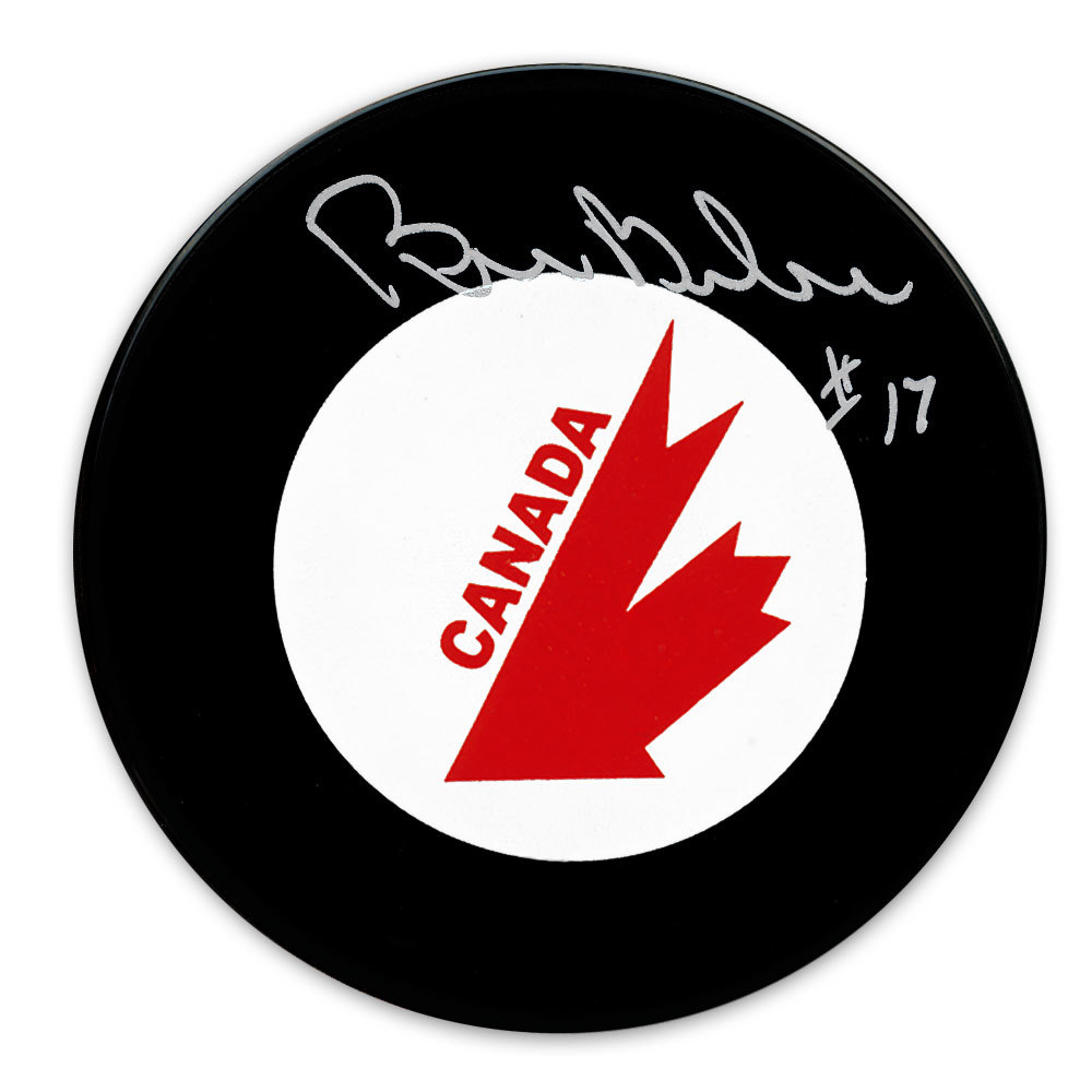 Bill Barber Team Canada 1976 Canada Cup Autographed Puck