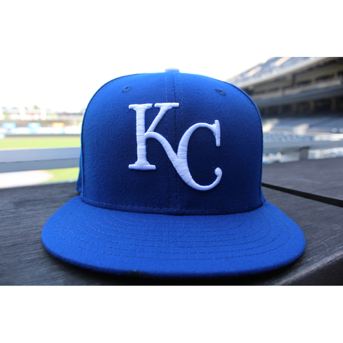 Photo of Game-Used 1969 Throwback Cap: Mike Moustakas (Size 7 1/2 - NYY at KC - 5/19/18)