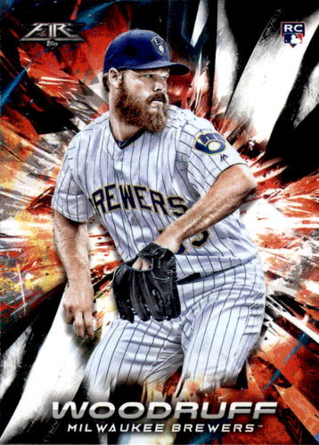 Photo of 2018 Topps Fire #155 Brandon Woodruff RC
