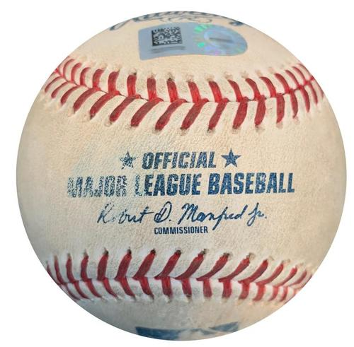 Photo of Game-Used Baseball from Pirates vs. Reds on 9/3/18 - Trevor Williams Strikeout Pitch