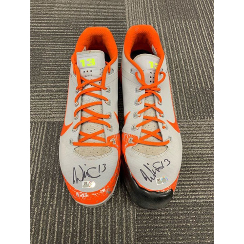 Photo of End of Year Auction - 2018 Autographed Cleats (PAIR) - signed by #13 Will Smith - Size 13