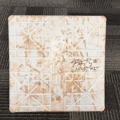 Photo of 2016 Autographed Game Used 3rd Base (Innings 4-6) - On the field when Buster Posey Hit a HR for Career Hit 1,000 on 9/27 vs. Colorado Rockies