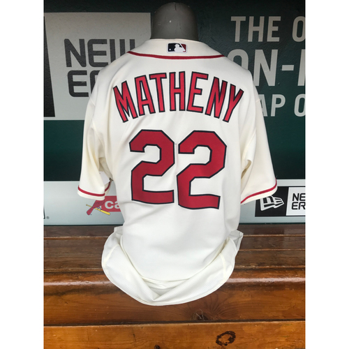 Photo of Cardinals Authentics: Game Worn Mike Matheny Saturday Alternate Jersey