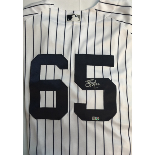 Photo of James Paxton Autographed Authentic Yankees Jersey