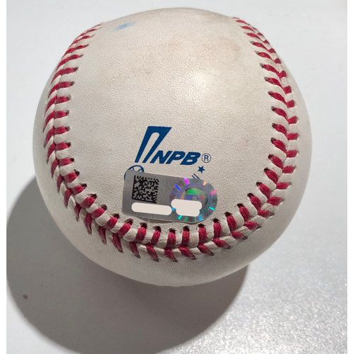 Photo of 2019 Japan Opening Day Series - Exhibition Game - Game Used Baseball - Batter: Dee Gordon Pitcher : Ryusei Ohe - Double