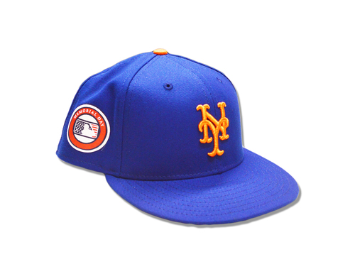 Photo of Dave Racaniello #57 - Game Used Memorial Day Hat - Mets vs. Dodgers - 5/27/19