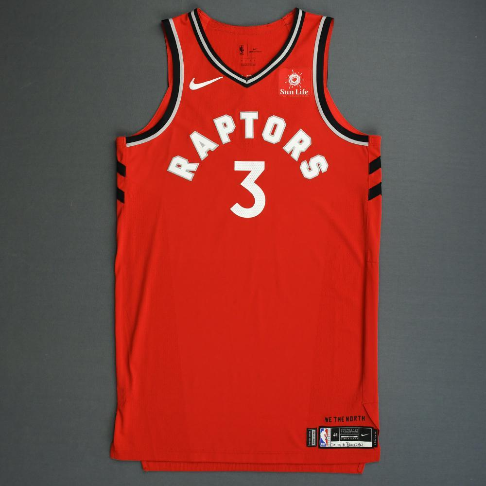 OG Anunoby - Toronto Raptors - 2018-19 Season - Canada Series - Game-Worn Red Icon Edition Jersey