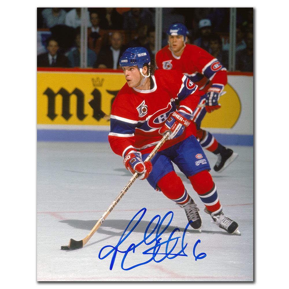 Russ Courtnall Montreal Canadiens BREAKOUT Autographed 8x10