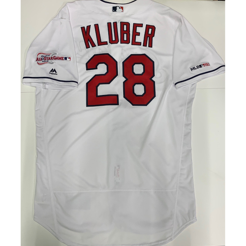 Photo of Corey Kluber Team Issued 2019 Home Jersey