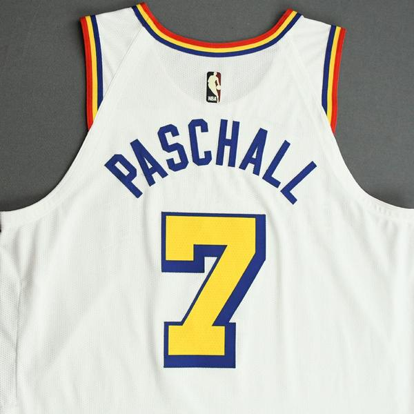 Eric Paschall - Golden State Warriors - Game-Worn Classic Edition - 1962-63 San Francisco Home ...