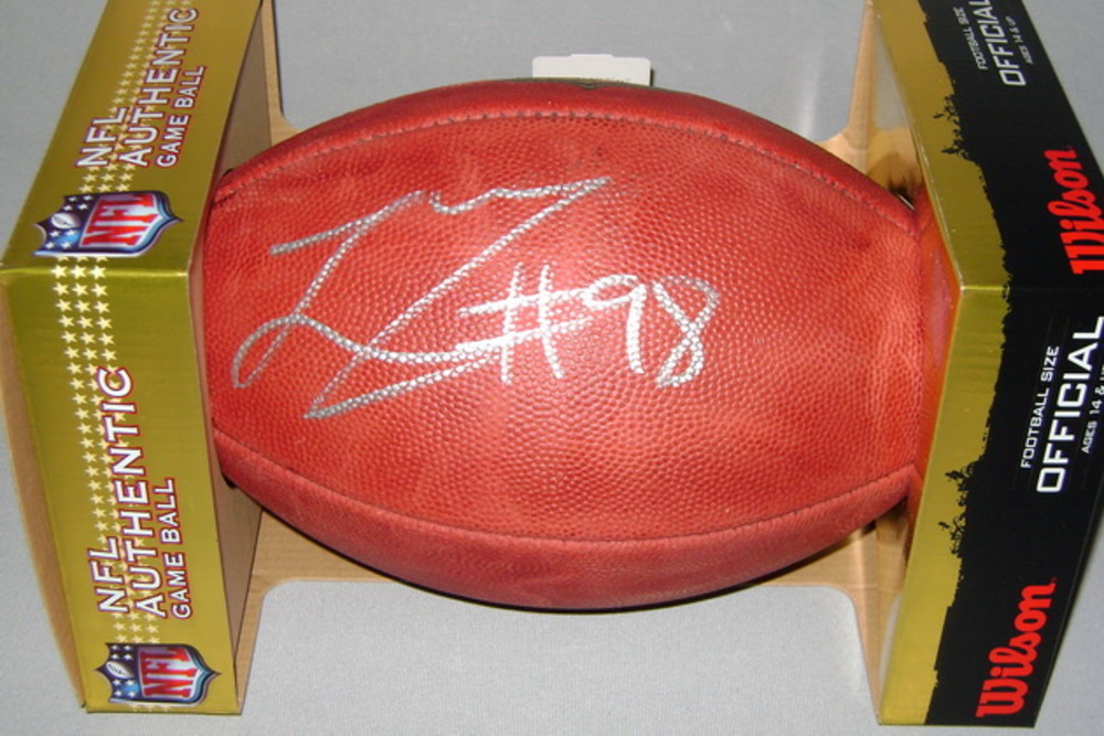 NFL - Chargers LINVAL JOSEPH SIGNED AUTHENTIC FOOTBALL