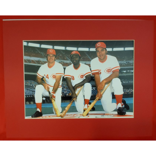 Photo of Matted Big 3 (Pete Rose, Joe Morgan, and Johnny Bench) - 11x14