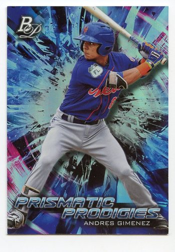 Photo of 2018 Bowman Platinum Prismatic Prodigies #PPP35 Andres Gimenez