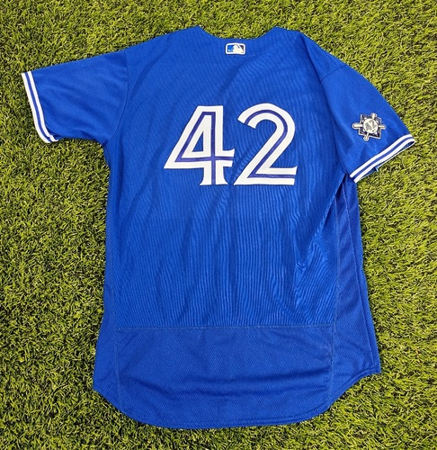 Photo of CHARITY AUCTION: Authenticated Game Used #42 Jersey: Dave Hudgens (Aug 28, 20). Size 48.