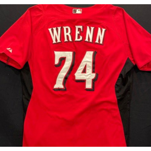 WRENN -- Authentic Reds Jersey -- $1 Jersey Auction -- $5 Shipping -- Size 44 (Not MLB Authenticated)