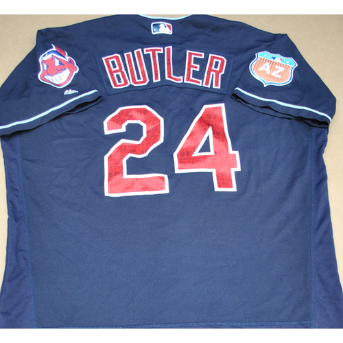 Photo of Game-Used 2016 Spring Training Jersey - Joey Butler - Size 50 - Cleveland Indians