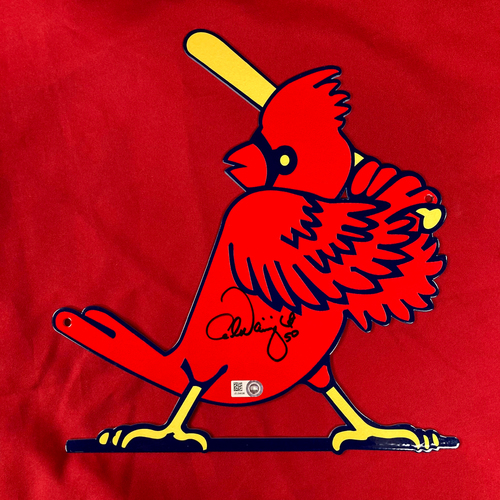 Adam Wainwright Autographed Steel Slugger Bird