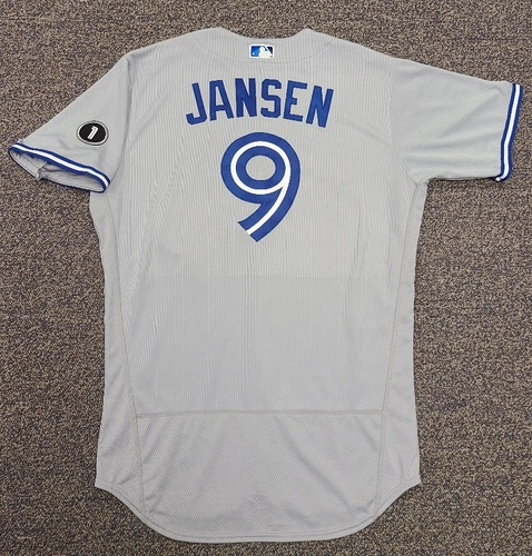 Photo of Authenticated Team Issued Jersey: #9 Danny Jansen (2020 Season). Set 2. Size 46.