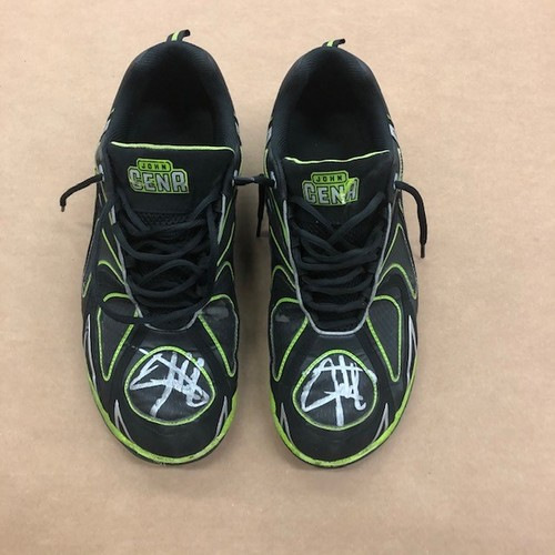 John Cena SIGNED and RING-USED Shoes