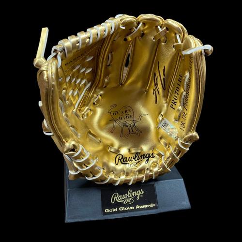 Photo of Nolan Arenado Autographed Mini Gold Glove