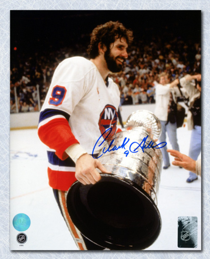 Clarke Gillies New York Islanders Autographed Stanley Cup 8x10 Photo