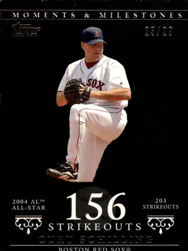 Photo of 2007 Topps Moments and Milestones Black #92-156 Curt Schilling/SO 156