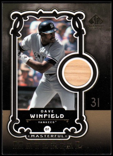 Photo of 2007 SP Legendary Cuts Masterful Materials #DW Dave Winfield