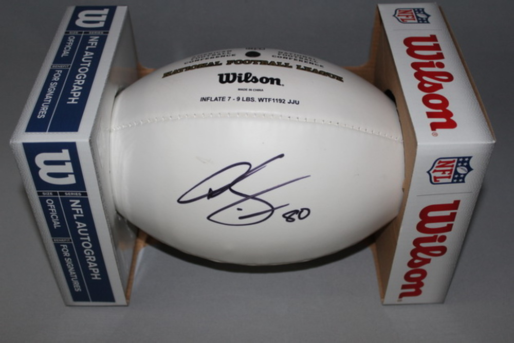 Dolphins - Dion Sims signed panel ball (markings on panel)