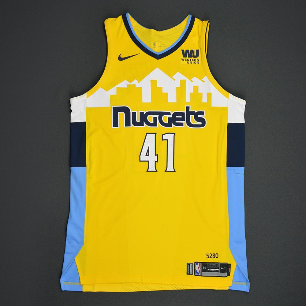 Juan Hernangomez - Denver Nuggets - Statement Game-Issued Jersey  - 2017-18 Season