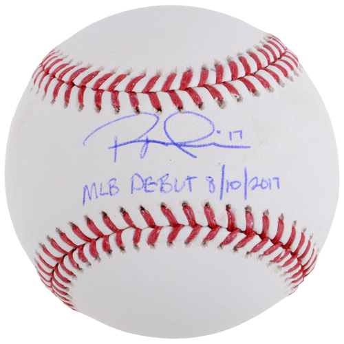 Photo of Rhys Hoskins Philadelphia Phillies Autographed Baseball with MLB Debut Inscription