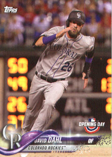 Photo of 2018 Topps Opening Day #44 David Dahl