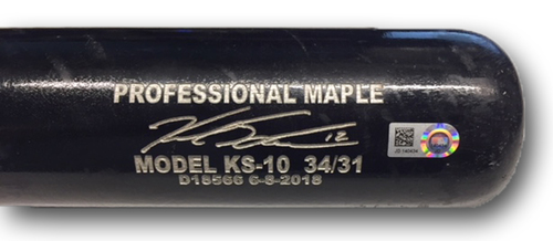 Photo of Kyle Schwarber Game-Used Bat -- Corey Knebel to Kyle Schwarber, Ground Out, Top 8 -- Cubs at Brewers -- 6/11/18