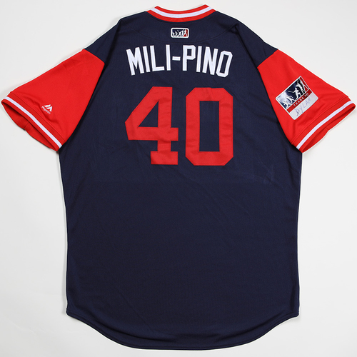 "Photo of Odrisamer ""Mili-Pino"" Despaigne Los Angeles Angels Game-Used 2018 Players' Weekend Jersey"