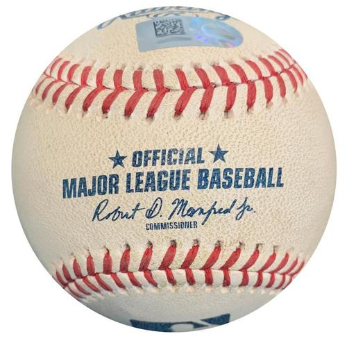 Photo of Game-Used Baseball from Pirates vs. Reds on 9/5/18 - Joey Votto Foul
